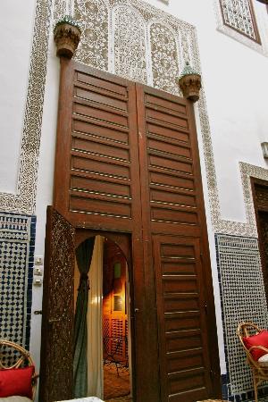 Riad Dar Cordoba: door to our bedroom.