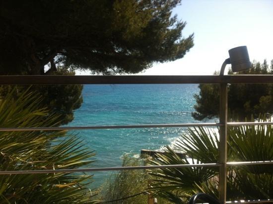 La Villa Madie: vue de la terrasse