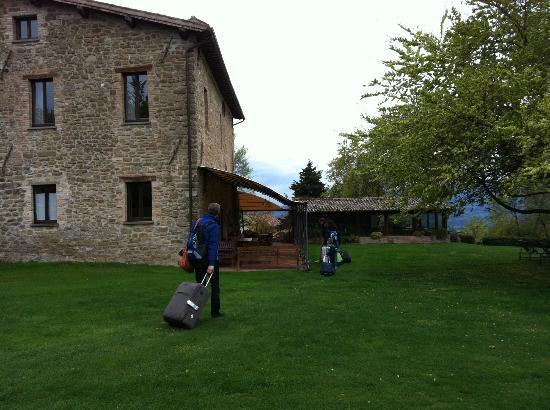 Arrival at Locanda del Gallo