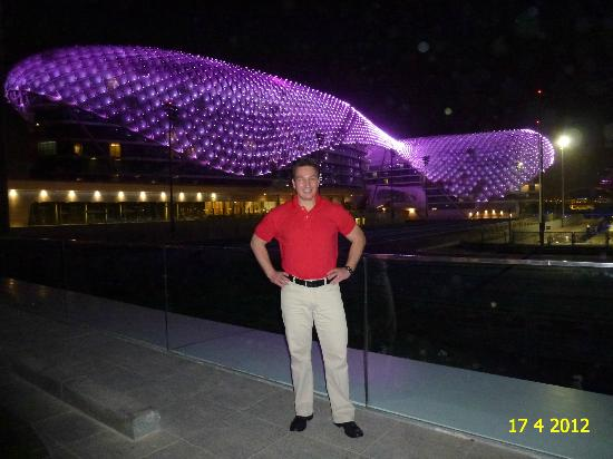 Yas Viceroy Hotel As Seen By Night