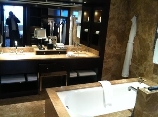 Hyatt Regency Kiev: deluxe suite - bathroom. very chic.