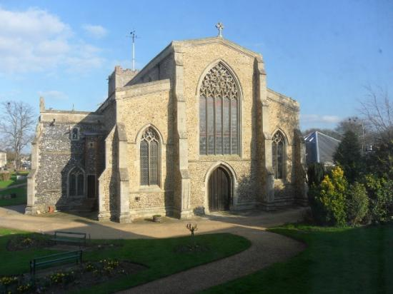 Griffin Hotel Attleborough: View of Church from Hotel room