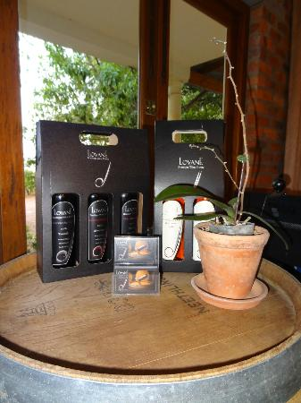Lovane Boutique Wine Estate and Guest House: The wines we tasted (we loved the Blanc De Noir!!)