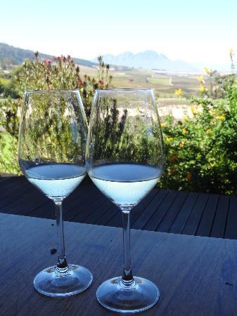 """The Jordan Restaurant : Enjoying the """"Chameleon"""" white wine"""