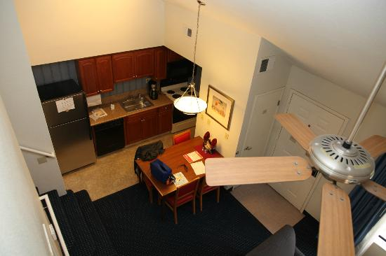 Living Room From Upstairs Bedroom Loft Picture Of