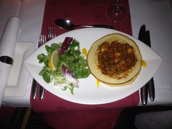Friends Refined Indian Cuisine: king prawn pancake
