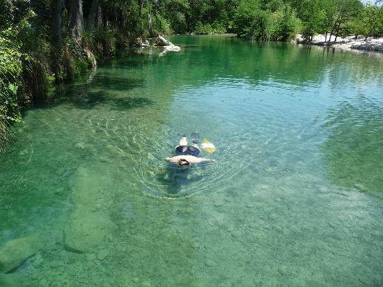 Rio Frio, TX: Clear water is great for snorkeling too.