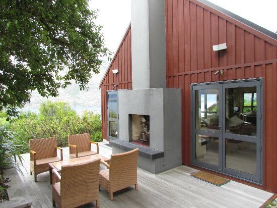 Azur : Die hintere Terrasse vom Haupthaus