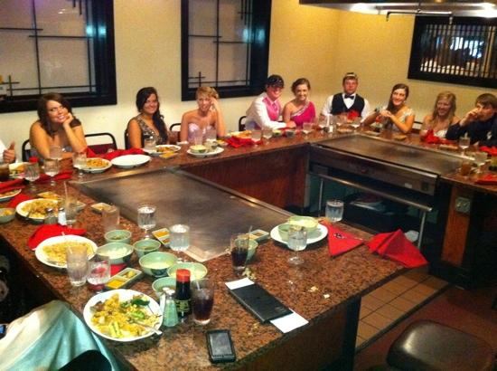 Mikata Anese Steakhouse And Sushi Bar My Prom Group Loved It