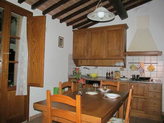 Residence Santa Maria: The two wooden french doors in the kitchen led to our private balcony.