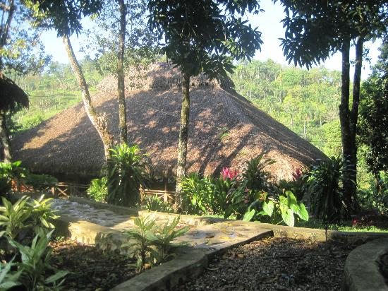 Sereno de la Montana: the roof of the dining and recreation area