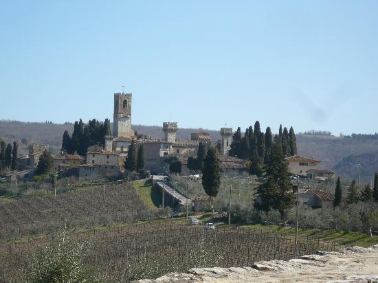 La Canonica di Cortine: View from the road of San Donato - very close medieval village