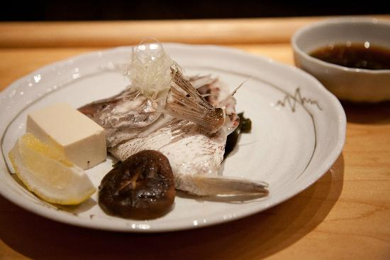 Asanebo: Fish cheek/head with tofu. Delicious!