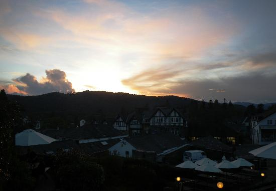 The Angel Inn: Sunset viewed from The Angel