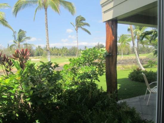 Outrigger Waikoloa Beach Villas: view from master bedroom 1st floor