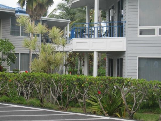 Wyndham Mauna Loa Village: patio seen from side of building