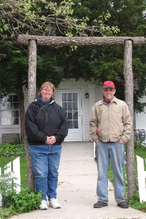 Whiterock Conservancy: In front of the Garst Family Farmhouse