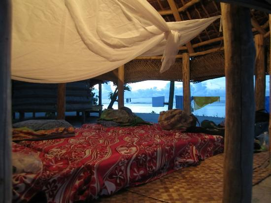 Tanu Beach Fales: Mosquito nets are clutch