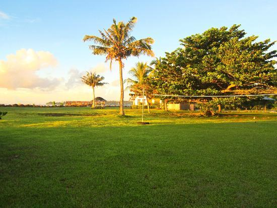 The Savaiian Hotel: sunrise from the hotel grounds - volleyball net too!