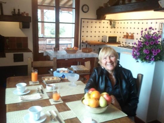 colazione a Le Ginestre B&B de Charme