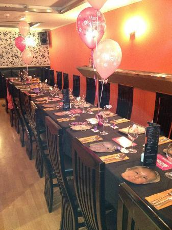 Kayla Brasserie: The table before the party