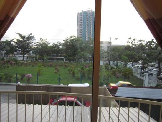 The Garden Inn: View from Room with Balcony