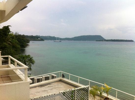 Chantilly's on the Bay: Room view across Port Vila harbour