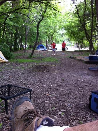Bonham State Park: Bonham SP - 2012 Camp playing horse-shoes