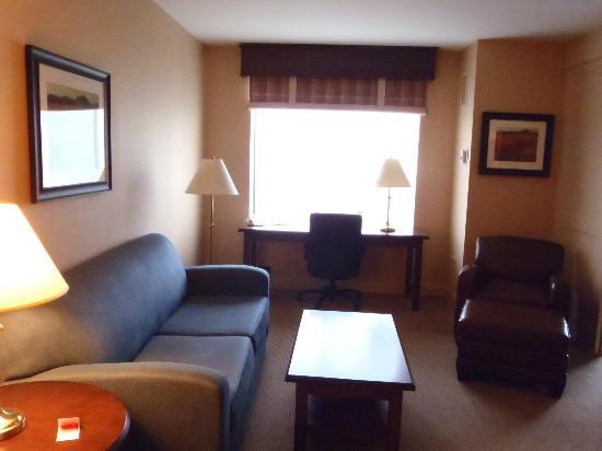Sheraton Suites Akron Cuyahoga Falls: Living area