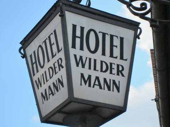 Hotel Wilder Mann: Historic lamp for the Wildermann
