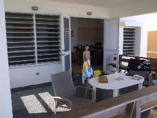 Villa Tropical Oceanfront Apartments on Shacks Beach: We basically lived on the balcony