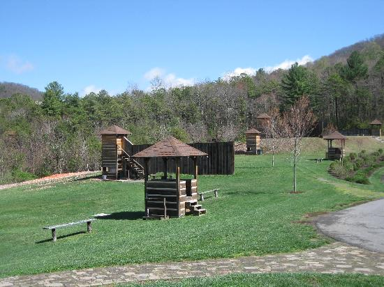 Hot Springs, VA: Skeet stations at the Gun Club.