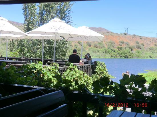 Viljoensdrift Wine Farm: Terrasse