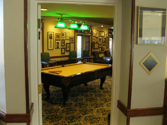 Varsity Clubs of America: pool room in lobby area