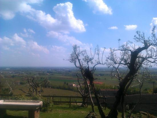 Locanda Vecchia Custoza: Dalla terrazza ...
