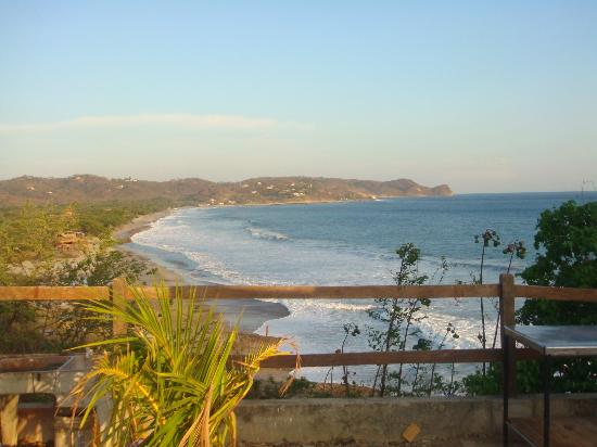 Soma Surf Resort: View from local surf hostel