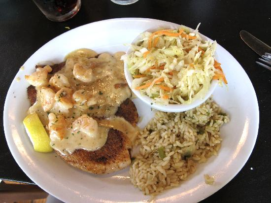 Gordonville Grill: Talapia with Shrimp in Cajun cream sauce