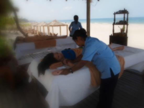 The Palm Beach Resort: having message right on the beach