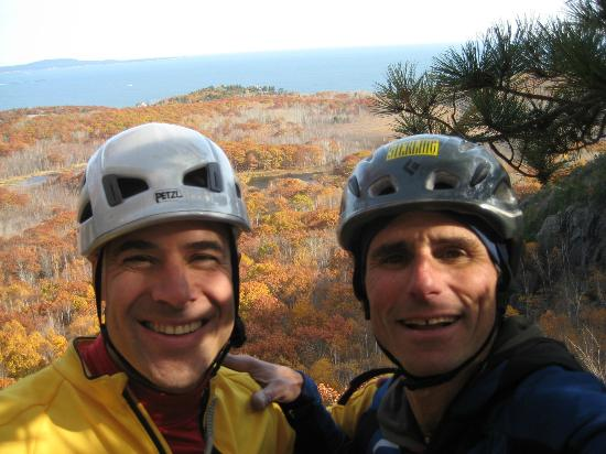 Mooney Mountain Guides - Day Tours: Jim Shimberg and I at Acadia National Park in Maine