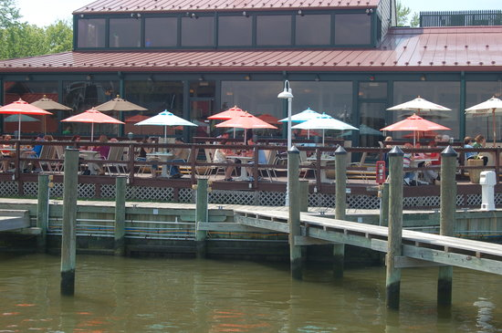 Town Dock Restaurant: Summer Dining on our deck