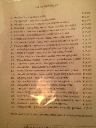 Olio, Pomodoro, Basilico: menù pizze