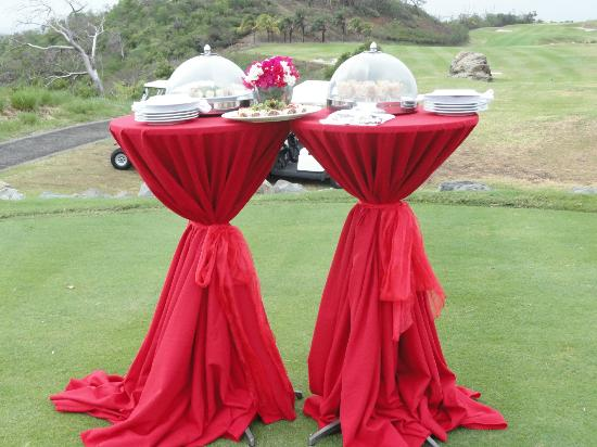 Canouan Resort at Carenage Bay - The Grenadines: Canapes on 13th Tee