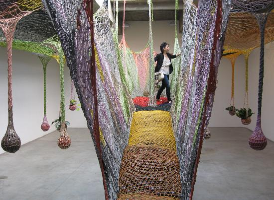 The Two Percent Gallery Tours: Tour group viewing Ernesto Neto
