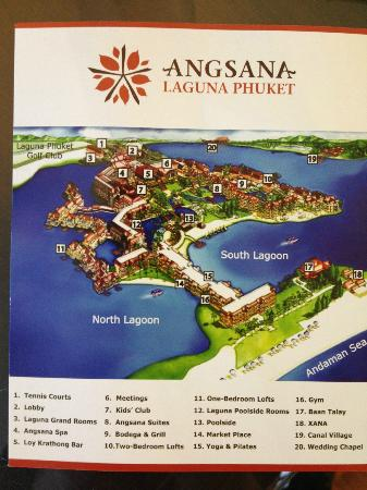 Angsana Laguna Phuket : Resort Map