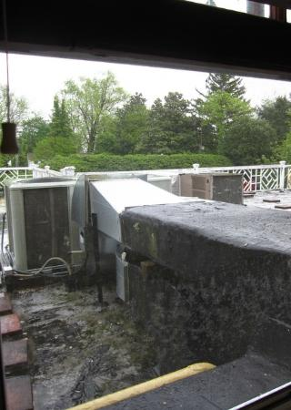 Robert Morris Inn: The HVAC equipment outside Room 14.