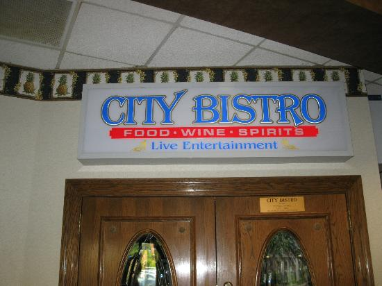 Holiday Inn Greenville : entrance sign for bistro