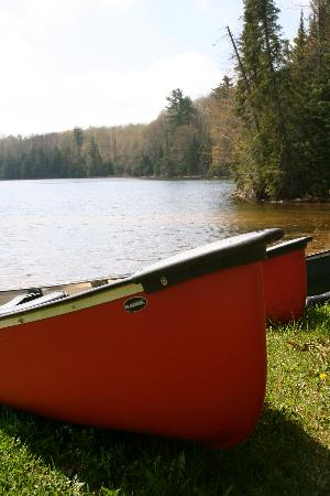 Halfway Lake Cottages: Rowboats, canoes, and kayaks are included with cottage rentals!