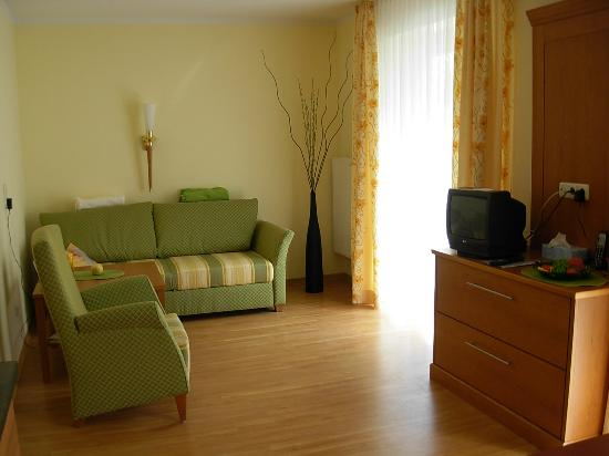 Hotel Cebulj: Living area in suite