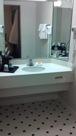 Motel 6 Tulsa South: Sink/Mirror area