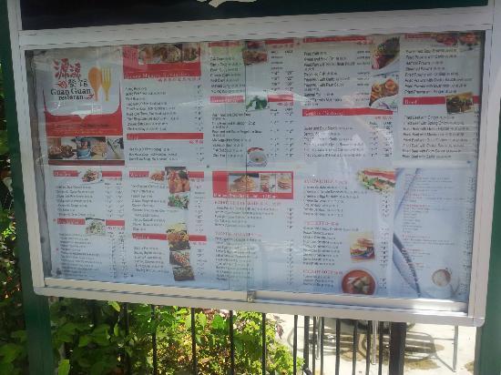 Guan Guan Cafe: Guan Guan menu